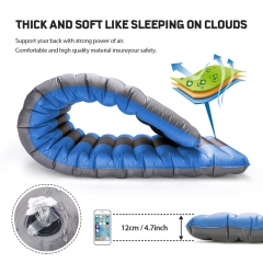 ROCONTRIP Inflatable Sleeping Pad, Ergonomic Moisture-Proof Portable Sleeping Mattress Mat Camping Backpacking Hiking Sleeping Bags Hammocks Outdoors