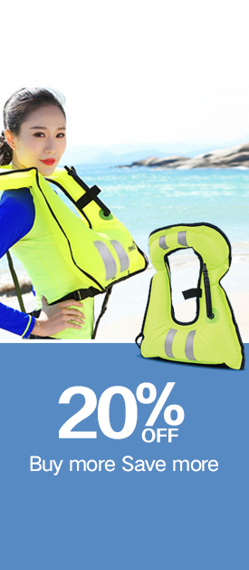 Adult/Kids Inflatable Snorkel Vest Portable Life Jacket for Swimming Safety