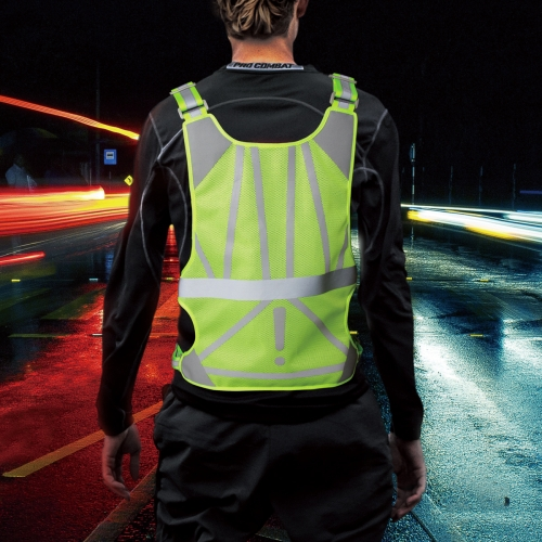 Rocontrip Safety Vest, Stylish Adjustable Reflective Running Vest Safety Vest High Visibility 360° Protection Lightweight Breathable for Jogging Cycli