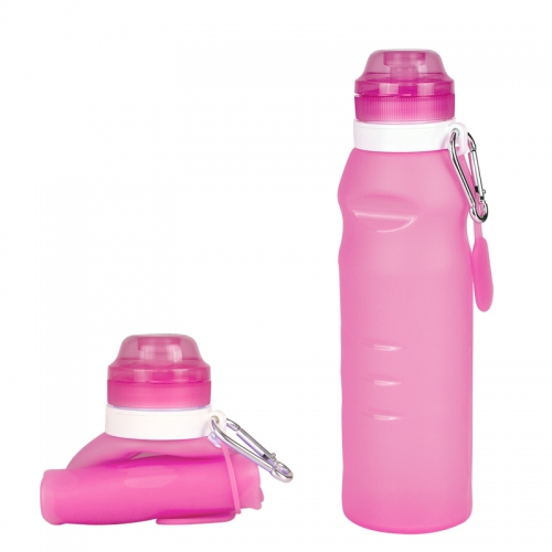 ROCONTRIP Collapsible Water Bottle Silicone Travel Sport Bottle Leakproof 600ml