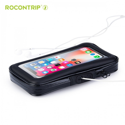 ROCONTRIP Bike Bag, Bike Pouch Phone Holder Front Frame with Touchscreen