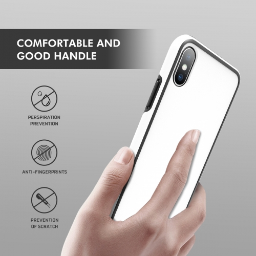 Rocontrip ANTI-drop phone back case for Apple iphoneX TPU+PC double cover to protect you phone