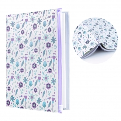 Book Cover with Textbook Card SlotsZippered Storage Pocketfor A5