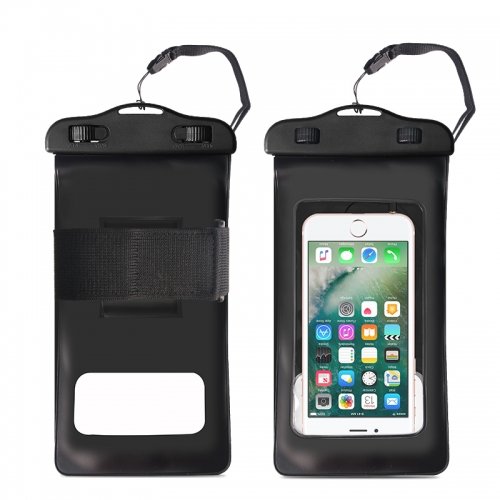 Rocontrip Waterproof Cell Phone Case Dry Bag IPX8Pouch With Headphone Jack,Armband,Lanyard