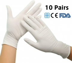 Disposable Latex Gloves Medical Exam Grade Gloves Personal Health Protect Gloves Surgical Gloves Multipurpose for Household Cleaning,Hospitals,Laborat